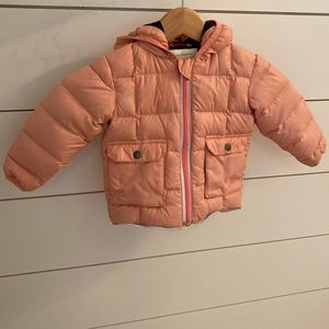 Hanna Andersson pink down puffer coat
